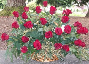 Two Dozen Roses gift basket