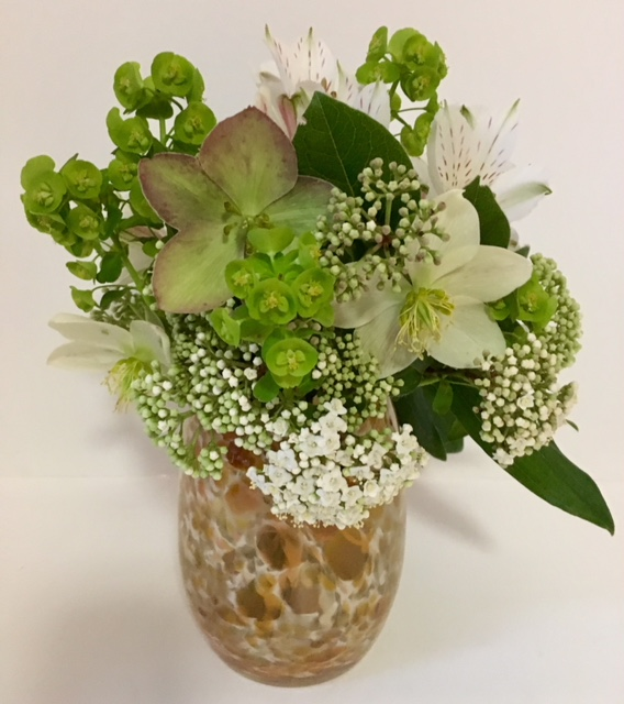 White in gold accents et cetera white flowers in gold vase mightylinksfo